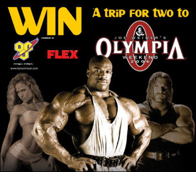 Win a trip for two to 2006 Mr. Olympia!