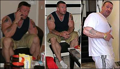 Recent pictures of Dorian Yates posted on Flex Online's forum