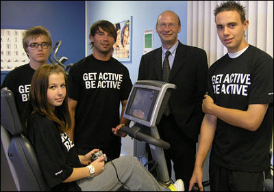 A Welsh gym that have attatched Playstations to cardio equipment to attract kids.