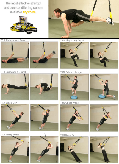 The design of the TRX takes bodyweight training to a new level by enabling unlimited degrees of resistance and a growing library of hundreds of exercises...