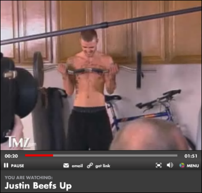 Justin bulks up?