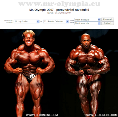 You can call out the competitors at Mr. Olympia 2007